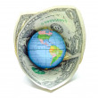 World dominated by the dollar — Stock Photo