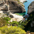 Stiniva bay in vis island - Stock Photo