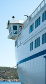 Bridge of sea ferry — Stock Photo