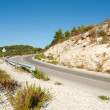 Winding road in deserted landscape — Stock Photo