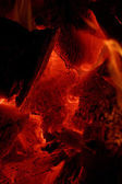 Glowing embers — Stock Photo