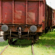Old wagon, in an unused railway track — Stock Photo