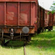 Old wagon, in unused railway track — Stock Photo #26469001
