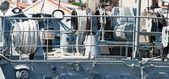 Ship's anchor system — Fotografia Stock