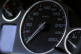 Close up modern car dashboard — Stock Photo