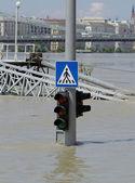 Flooded city — Stock Photo