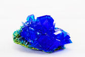 Crystals of blue vitriol - Copper sulfate — Stock Photo