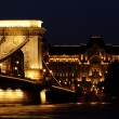 Night image of the hungarian chain Bridge — Stock Photo