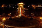 Night image of the hungarian chain Bridge — Stock Photo