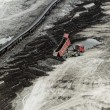 Stock Photo: Coal mining in open pit
