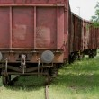 Old wagon, in unused railway track — Stock Photo #33380755