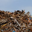Scrap metal processing industry — Stock Photo