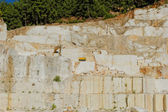 Thassos white marble quarry — Stock Photo