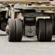 Stock Photo: Solid rubber wheels
