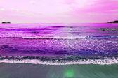 Waves of sea on the sandy beach — Stock Photo