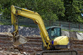 The excavator working — Foto Stock