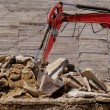 The excavator working — Stock Photo