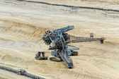 Estrazione del carbone in una buca aperta — Foto Stock