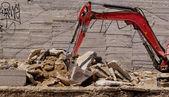 L'escavatore lavorando — Foto Stock