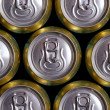 Much of drinking cans — Stock Photo
