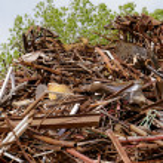 Scrap metal processing industry — Stock Photo