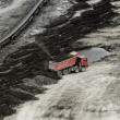 Coal mining in an open pit — Stock Photo