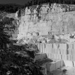 Stock Photo: Thassos white marble quarry in bw