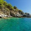 Stock Photo: Rocky beach at greece , thassos