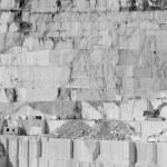 Thassos white marble quarry in bw — Stock Photo #39939695