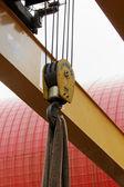 Crochet de grue industrielle — Photo
