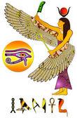 Egyptian deity — Stock Photo