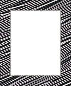 Black and white digital frame — Stock Photo