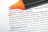 Law translation dictionary — Stock Photo