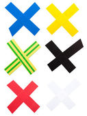 X Mark of color tape — Stock Photo