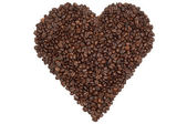 Heart of beans — Stock Photo