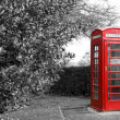 Stock Photo: Red telephone booth