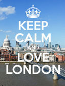 Keep calm and love London — Stock Photo