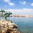 Greece, Rhodes. Mandraki port — Stockfoto