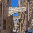 Medieval alley in Rhodes Old Town — Stock Photo