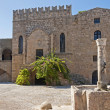Ancient building in the old town Rhodes — Stock Photo