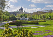 Austria Vienna area of the Park Palace — Foto Stock
