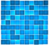 Semi-transparent blue cubes lit from behind — Stock Photo
