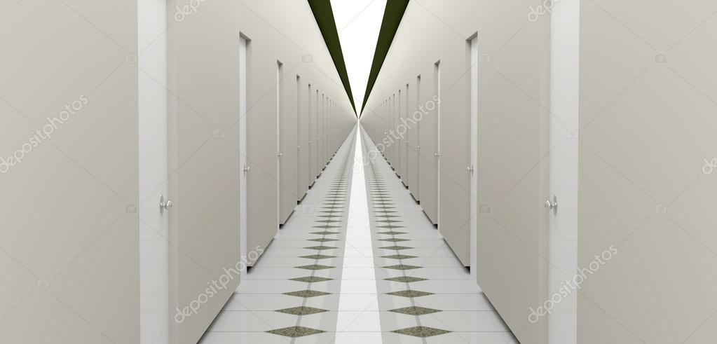 3D render long corridor — Stock Photo #14665907
