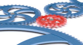 Gears in movement — Stock Photo
