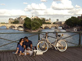 Paris, pont des arts — Stock Photo