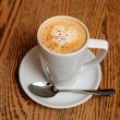 Stock Photo: Cappuccino latte cup