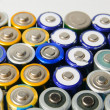 Used rechargeable batteries — Stock Photo