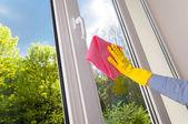 Plastic vinyl window — Stock Photo