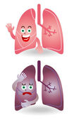 Characters lung — Stock Vector