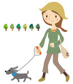 Hund gehen — Stockvektor